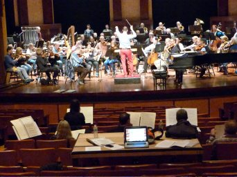 Paved with Gold rehearsal with the Columbus Symphony